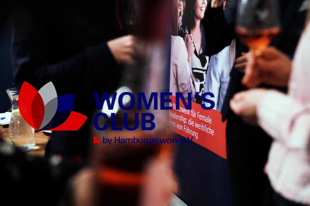 Logo Women´s Club by Hamburg@work bei einer Veranstaltung