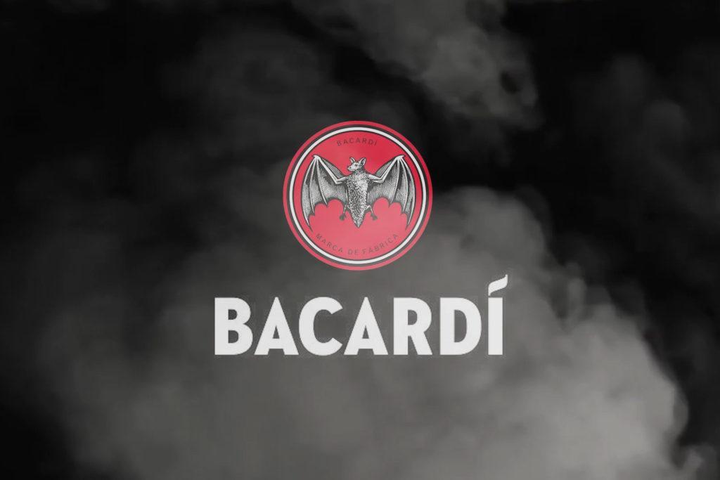 Bacardi Logo mit Rauch