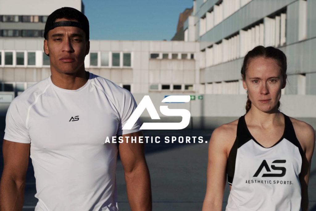 zwei Sportler laufen bekleidet mit Gym Bekleidung von Aesthetic Sports